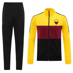 2020 2021 Rome Zaniolo Tracksuit Sport Jacket Soccer Training Training 20 21 Totti de Rossi Sport Coat Maillots Maillot de pied Kit de veste