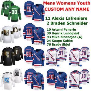 New York Rangers de hockey jerseys 13 Alexis Lafreniere Jersey Braden Schneider Artemi Panarin Henrik Lundqvist Kaapo Kakko cosido personalizada