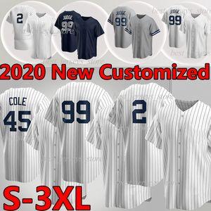 New York Yankees 99 Aaron Judge Baseball Jersey 2 Derek Jeter  26 DJ Lemahieu 45 Cole 27 Stanton Jersey personalizzato Camisetas de Beisbol