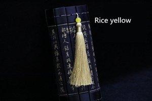 5pc Jade Beads Larga trenza Tassel DIY Película Pulsera Pulsera Clave de Coche Making Fringe Trim Craft Barbas Accesorios de costura H BBYWTP