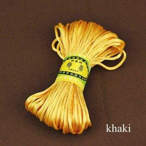 20mètre 2mm Satin Nylon Satin Satiné Satiné Satiné Knot Chinois Knot Macrame Bracelet tressé String String Bricolage Tassels Beading String H Jllvwt