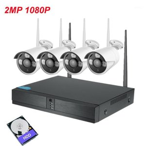 New arrival 4ch Outdoor waterproof p2p wifi nvr kit cctv camera wifi system 2MP 1080p wireless security camera system1