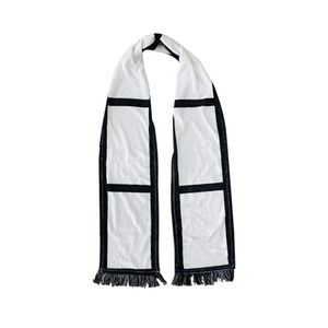Flannel Tassels Sublimation Blanks Scarves Double Sided Scarf Thermal Transfer Towel Sublimation Blanks Scarf sea shipping LLA235