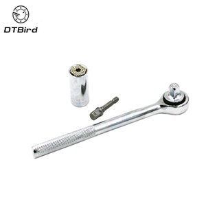 """Multi Function Socket Wrench Head 3 8"""" 7-19mm Power Drill Adapter Car Universal Sleeve Ratchet Wrench Hand Tools"""