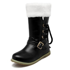 Winter Snow Boots Women Waterproof Plush Cotton-Padded Shoes Women Motorcycle Martin Boots Shoes Woman Big Size 34-43 XKD2092
