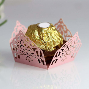 50pcs Flower Chocolate Wrappers Paper Candy Box Bar Wedding Favors And Gifts Party Supplies Birthday Party Decorations Supply