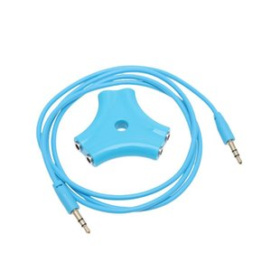 1 To 5 3.5mm Headset Audio Signal Splitter Practical Earphone Splitter With 1 Meter Size Audio Signal Cable Black