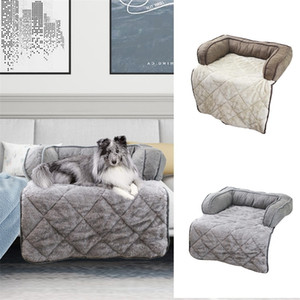 Pet Beds Sleep Warm Soft Sofas Puppy Blanket Chair Pad Floral Print Multi-function Dog Cat Mats Pet Car Seat Cover Sofa Mats Y200330