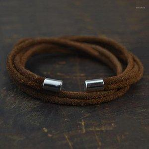 Leather Bracelets for Men Women 2020 Fashion Bracelets & Bangles Cool Punk Multilayer Wrap Bracelet Jewelry1