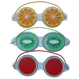 19 * 7см Ice Gel Eye Mask Маски для сна Холодный компресс Cute Fruit Gel глаз Усталость Рельефные Охлаждающие релаксации Уход глаз 3 Стиль KKF2288