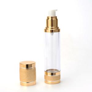 البلاستيك فراغ الصحافة ألومينا زجاجة مطلي الذهب المتداول الرمل زجاجات رش غسول مستحلب منفصلة تعبئة الساخن بيع 2 75ft g2
