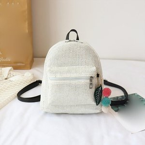 Women Small Canvas Backpack Daily Cute Black Plaid Casual Outdoor For Teenager Girls Schoolbag Sequin Pendant Bagpack 828
