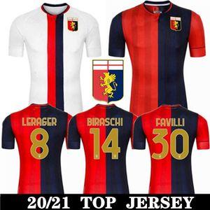 Uomini Uniformis Gênes C.F.C Jerseys de football 2020 21 Jerseys Soccer Zappacosta Maglia Pandev Cassata Pjaca Hommes Football Shirts