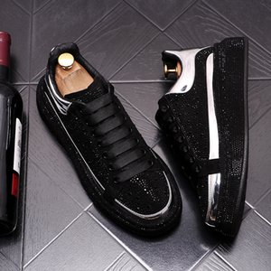 2021 European Street Trend Men's Casual Shoes New zapatillas hombre Travel High Street Rhinestone Men Sneakers for Men Sapatilha 535