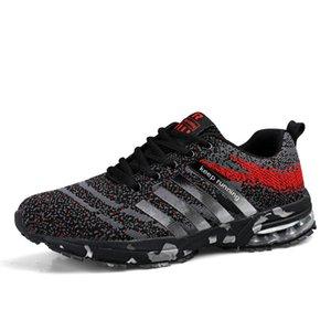 جودة عالية الساخن كبير الحجم أسود الاحتفاظ المدى أحذية رجالية النسيج تنفس أحذية رخيصة في الهواء الطلق ترتد الهواء الأحذية الرياضية للرجال وعدم الانزلاق حذاء رياضة