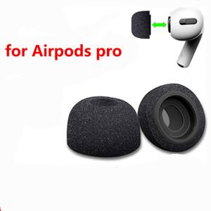 Reemplazo de espuma de memoria puntas de las orejas Buds para Apple Airpods Pro Auriculares Negro Los auriculares auricular de la cubierta de la manga de reducción de ruido