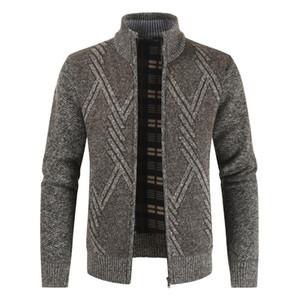 Negizber 2020 Autunno Inverno Uomo Casual stand spessore collare cardigan di modo caldo maglione Cappotti Men