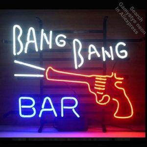 New Bang Bang Bar неоновый знак Неоновые лампы светодиодные вывески Real Glass Tube Handcrafted Игровая комната Гараж Декоративное Быстрый Dropshipping