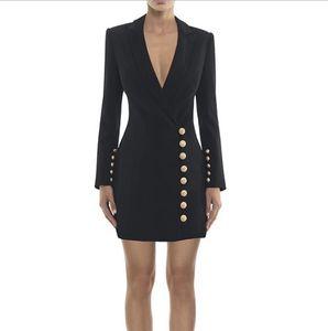 Premium New Style Top Quality Original Design Women's Deep V Dress Slim Pack hip Dress Formal Dress Suit