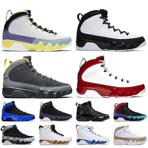 Nike Air Jordan 9 Retro 9s 2020 New Jumpman 9 9s Herren-Basketball-Schuhe SatinJordanienRetro 9 JOHNNY KILROY Charcoal Gym Red Racer Blau Sneakers Turnschuhe Größe 13