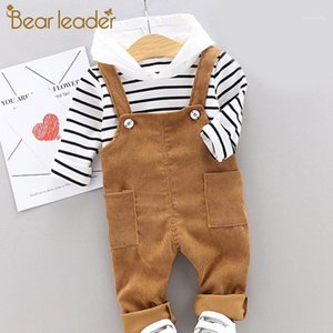 Bear Leader Boys Kids Cloths Sets New Otoño Invierno Ropa Baby Boys Soplied Striped Top and Pants 2pcs Outfits Custumes1