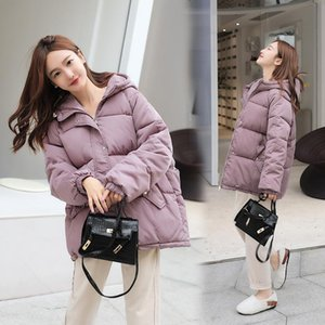Winter Women Warm Jackets Outerwear Oversized Hooded Parkas Coat Fashion Pocket Zipper Solid Thick Female Padded Jacket Coats