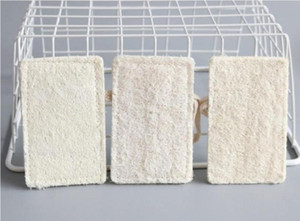 11*7CM Natural Loofah Pad Rectangle Shaped Exfoliating Luffa Remove the Dead Skin Perfect For Bath Shower And Spa Free