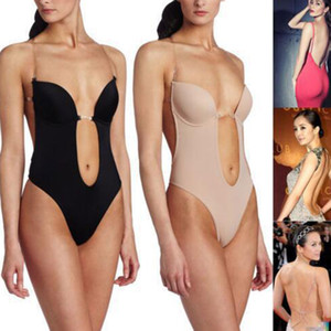 Женщины бесшовное белье Bodysuit Сексуальное белье Невидимый бюстгальтер для похудения Body Shaper Окунитесь бюстгальтеры ремень Brassiere Lingerie New