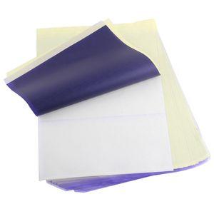 نقل 100pcs التي الوشم ورقة الروح الرئيسي الوشم الاستنسل ناسخة الكربون أوراق ورقة الحرارية للالوشم التيار A4 حجم الورق