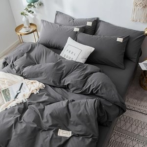 Nordic Simple Bedding Set Cotton Soft Bed Cover Luxury Pillowcases Twin Bedroom Bedding Set Ropa De Cama Home Textile DB60CD1