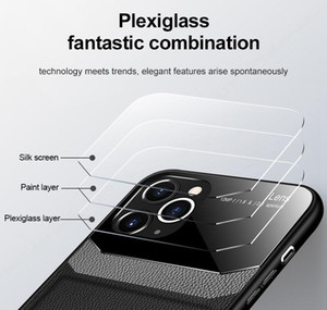 Business Style Case For Iphone 12 11 Pro Max Xs Max Pu Leather Tempered Glass Phone Back Cover For Iphone 7 8 6 6s qyljYE qpseller