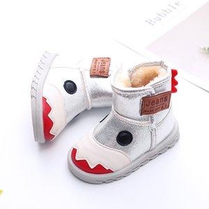 Хлопок девочек Детские JUSTSL Обувь Мальчики Осень Мода Зима Плюс Velvet Маленькие Монстры Стиль Теплый Дети Snow Boots