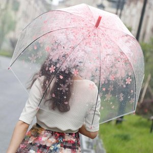 أبولو إزهار الكرز المظلات واضح لطيف فقاعة ديب قبة المظلة القيل والقال فتاة الرياح المقاومة مظلة DHL LXL1213DXP الحرة