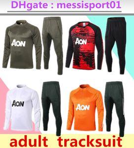 2020 2021 Manchester Former costume Hommes Martial Rashford Football Sportswear pied Jogging 2020/21 Pogba United Soccer TrackSuit Haut Qualité