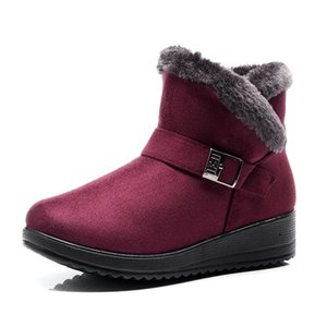 2020 Winter Women's Plus Size Warm Snow Boots Fashion Trend Mom Cotton Boots