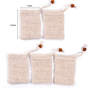 Natural Exfoliating Mesh Soap Saver Sisal Soap Saver Bag Pouch Holder For Shower Bath Foaming And Drying Shower bag Free DHL
