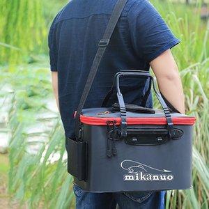 FISH Portable EVA Fishing Bag Collapsible Fishing Bucket Live Fish Box Camping Water Container Pan Basin Tackle Storage Bag