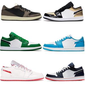 Schneiden Sie 1 Schuhe Niedrig Top OG Travis Scotts Basketballschuhe UNC Mens Hommage an Home Royal Blue Womens Sport Shoe Designer Sneakers Trainer