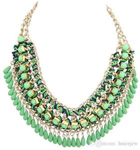 Colares colarinho para as mulheres Maxi pingentes multi Tassel Vintage camada Bib colar corrente Moda Jóias Colares Declaração