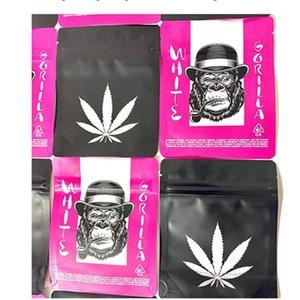 Blanco Gorila Pink Bodas Pastel de boda Caja fuerte Aluminio Resellable Embalaje Sello de calor Sello de calor Zalza Mylar 3.5 gramos Galletas SF 1 BBYHLZ