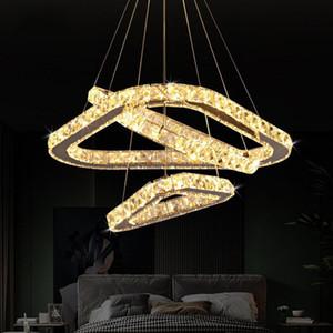 2020 Modern K9 Crystal Led Chandelier Lights Home Lighting Chrome Lustre Chandeliers Ceiling Pendant Fixtures For Living Room