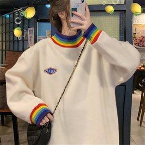 4XL oversize velvet Autumn winter loose large size Korean style sweatshirt women clothes coat long sleeve harajuku hoodies 201020