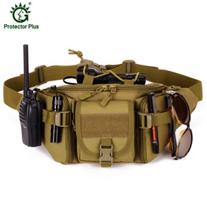Waterproof Nylon Men Fanny Pack Tactical Military Army Waist Bag Hiking Outdoor Camping Shoulder Bum Belt Bum Sport Chest Bags LJ200930