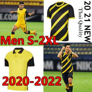 Настраиваемые Малайзия Футбол Джерси 2020 2021 2022 Новая Национальная команда Мужчины Футбольные Рубашки Главная Желтый Прочь Черный Разид Талаха Бахтен S-2XL