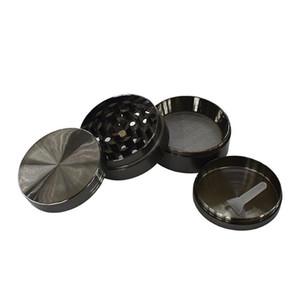 DHL SharpStone Flat Concave Zinc Alloy Dry Herb Grinders 50mm 4 parts Tobacco Grinder herb grinder cnc te Spice Crusher GGD2340