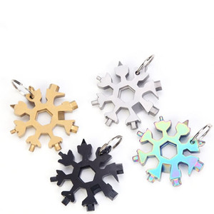 горячей Снежинка гаечный ключ Multifunctionl Портативный Открытый Инструменты Ручной Keychian Портативный металла открывалка 2 стиля T2I51630