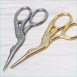 Форма аиста шить ножницы из нержавеющей стали портной ножницы острые швейные ножницы для вышивания, шитья, ремесла, искусство работают my-inf0294