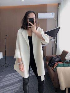 2021 Automne / Winter Laine Peignoir De Bref Paragraphe Woolen Coat Femme Contractée La laine de laine