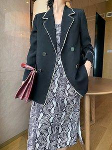 Office lady long blazer casual women blazers and jackets women's suit women' Double-breasted suit jacket blazer feminino jacket