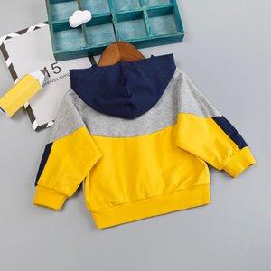Toddler Infant Baby Hoodie Sweatshirt Kids Boys Patchwork Sweatshirt Autumn Casual Fashion Pullover Tops Children Clothes
